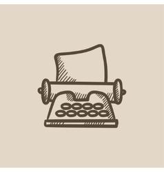 Typewriter sketch icon vector