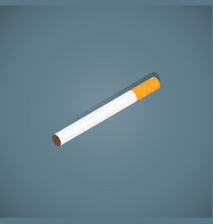 usual cigarette isometric design vector image