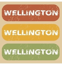 Vintage Wellington stamp set vector