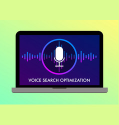 voice search optimization flat vector image