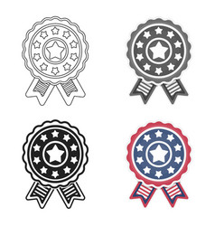 Vote emblem icon in cartoon style isolated on vector