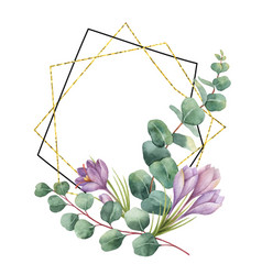 watercolor composition from the branches of vector image