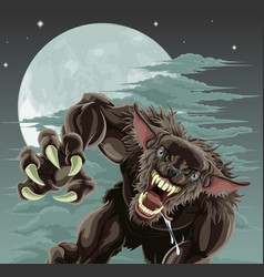 Werewolf moon vector