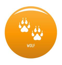 wolf step icon orange vector image