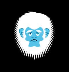 yeti sad emoji abominable snowman melancholy vector image