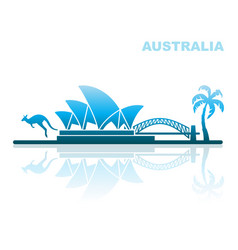 attractions australia abstract landscape vector image vector image