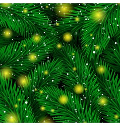 Background of Christmas tree branches Magic Luxury vector image