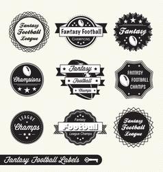 Fantasy Football Labels vector image vector image