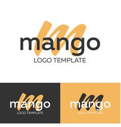 mango logo letter m logo logo template vector image
