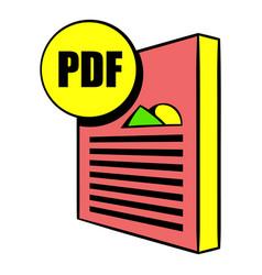 Pdf file icon cartoon vector