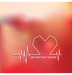 Heart Beat - Love Design for Valentines Day Logo vector image vector image