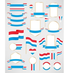 Luxembourg flag decoration elements vector