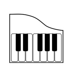 piano keyboard music technology vector image