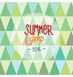 Summer camp for kids background with trees and vector image vector image