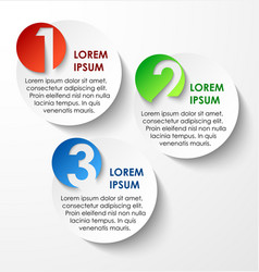 Abstract circles paper infographics vector image