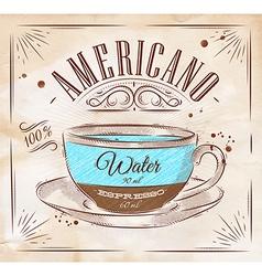 Coffee kraft Americano vector image vector image