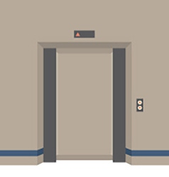 Open Doors Elevator vector image vector image