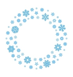 Snowflake Wreath vector image
