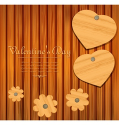 valentines wooden background vector image