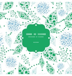 abstract blue and green leaves frame seamless vector image