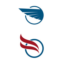 aviation company emblem logo design vector image vector image