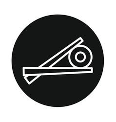 japan sushi icon isolated on white background vector image