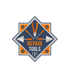 repair tools icon for house repair work vector image vector image