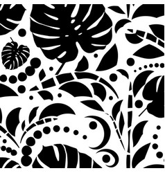 tropical leaves seamless pattern monstera leaves vector image