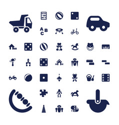37 toy icons vector