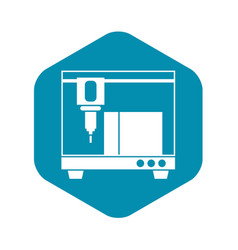 3d printer icon simple style vector