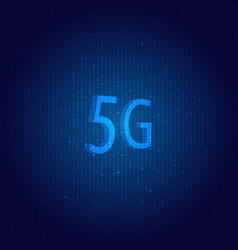 5g network symbol on a technological background vector