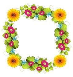 A floral border design vector image