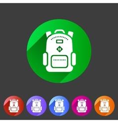 Backpack schoobag rucksack flat icon vector image