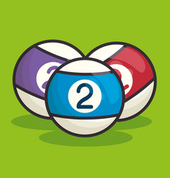 billiard balls isolated icon vector image
