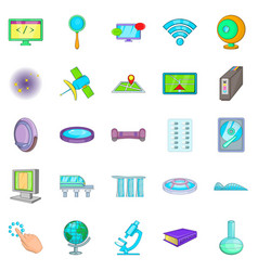 Breakthrough icons set cartoon style vector