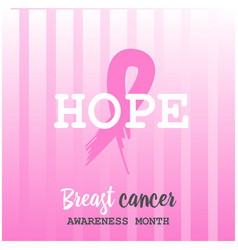 Breast cancer awareness ads poster hope vector
