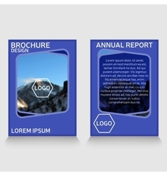 Brochure design annual report cover vector