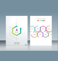 brochure template design with geometric simple vector image