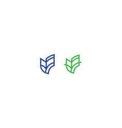 building icon line art logo vector image
