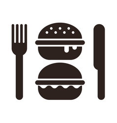Burgers knife and fork vector
