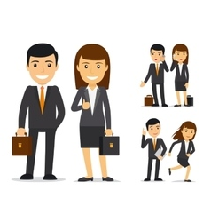 Business team characters vector image