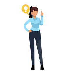 businesswoman characters young office business vector image