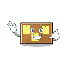 Call me toy bulletin board on cartoon vector