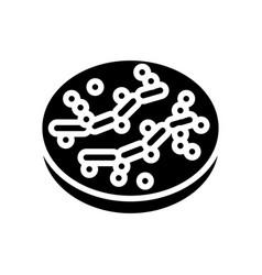 Candida bacteria glyph icon vector