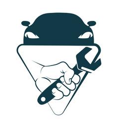 car repair and maintenance vector image