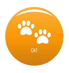 Cat step icon orange vector