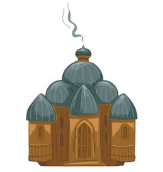 censer with smoke christian religion tradition vector image