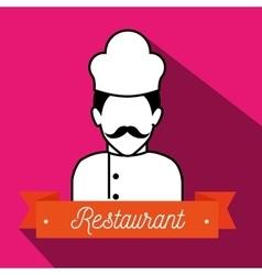 Chef uniform restaurant icon vector