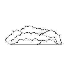 cloud cumulus monochrome in white background vector image