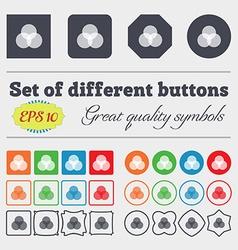 Color scheme icon sign Big set of colorful diverse vector